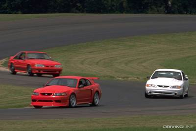 Mustang Cobra Rs on Track