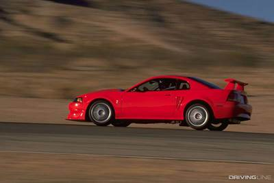 2000 Mustang Cobra R on Track