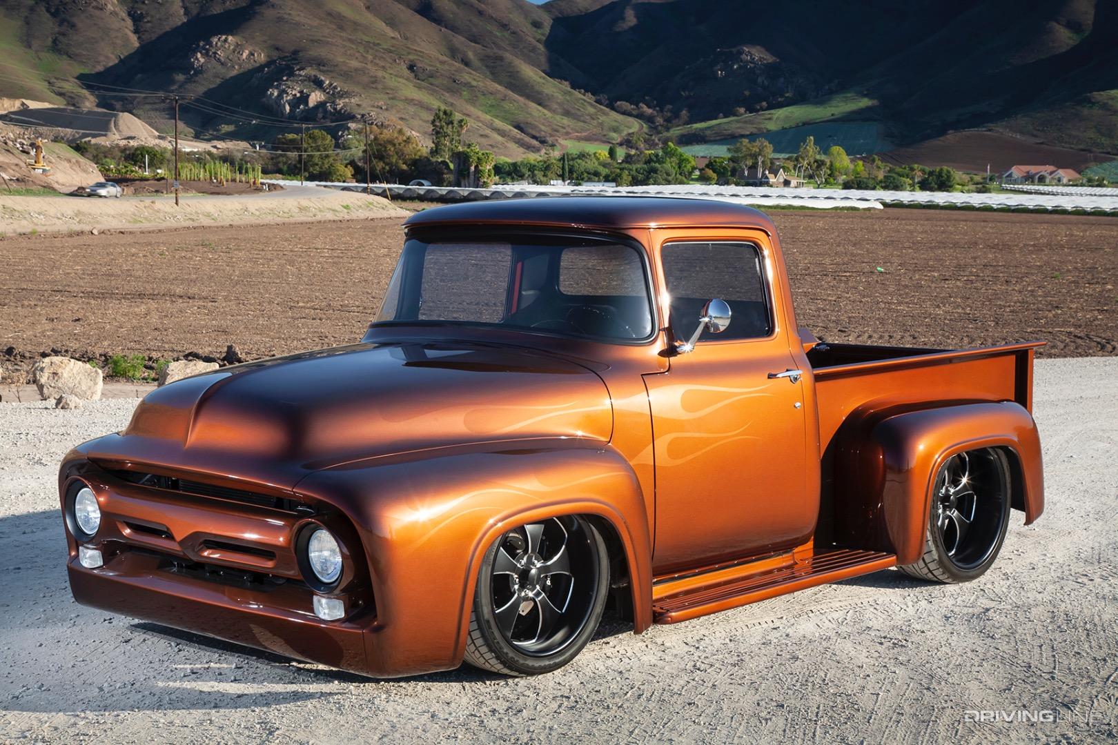 Stunning Slammed 56 Ford F 100 Pickup Truck Drivingline