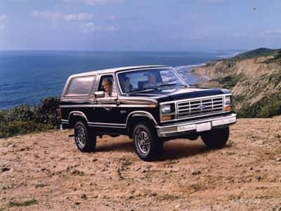 Ford Bronco near the ocean
