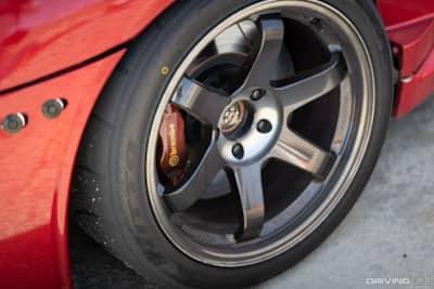 Nitto NT01 tires on a 2008 Mitsubishi Lancer EVO X