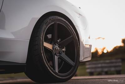 Nitto NT555G2 tire on S550 Mustang